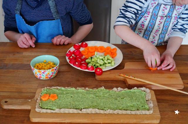 cuisine avec les enfants quiche colorée