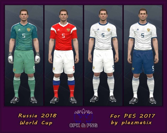 Russia National Team World Cup 2018 Kits For PES 2017