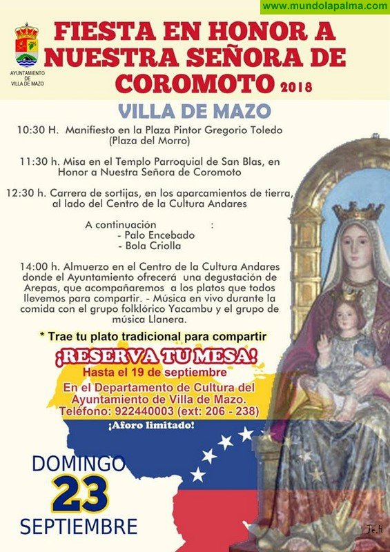 Fiesta en donde la Virgen de Coromoto 2018 en Villa de Mazo