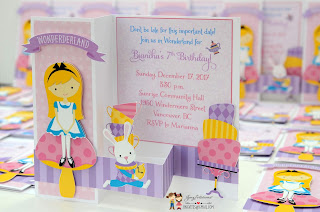 tea party invitations, mad hater, handmade invitations, alice in onederland