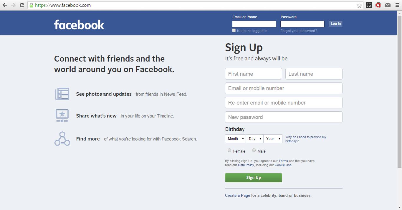 open facebook account new Gallery