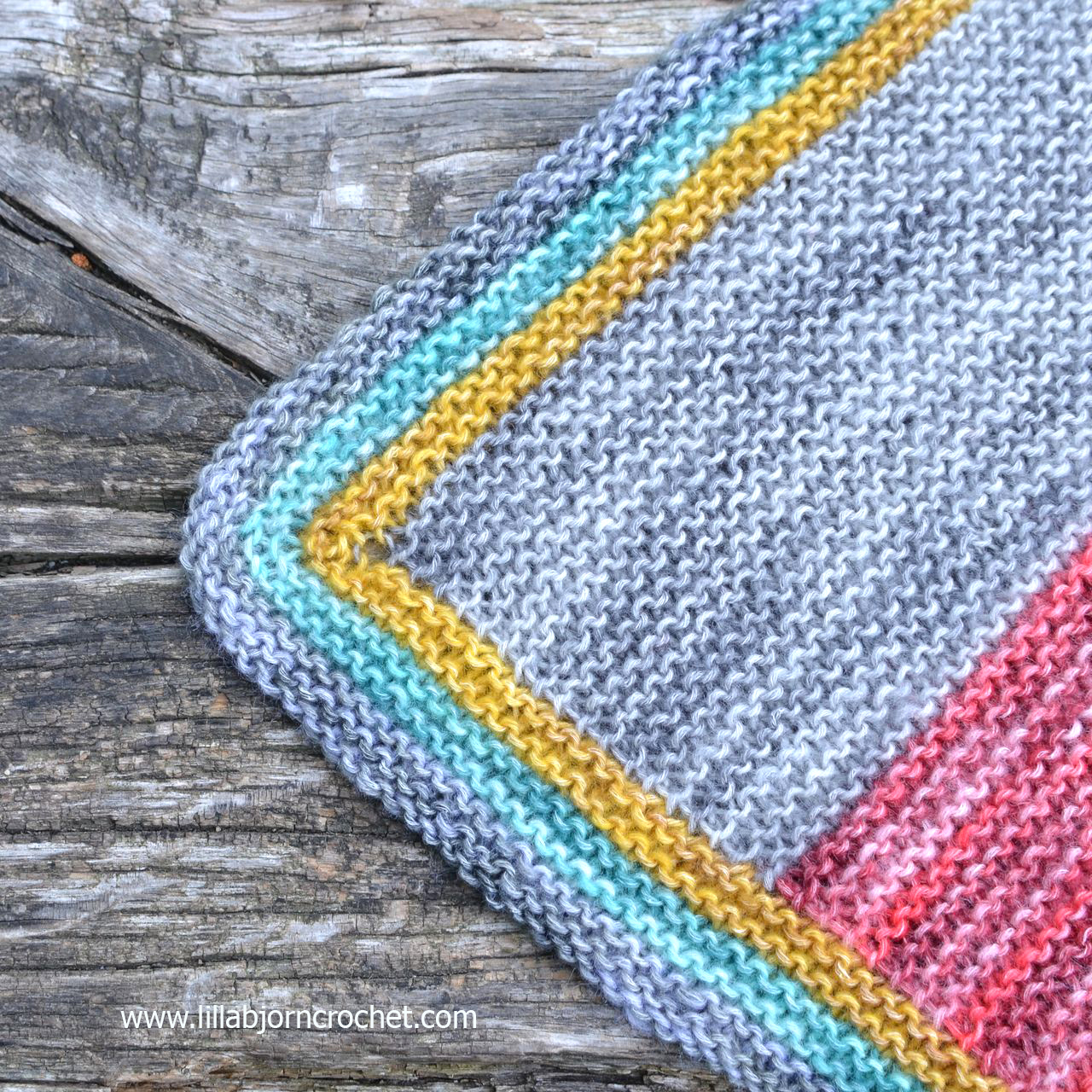 Simple knitted baby blanket with garter stitch. Made with Spirit yarn ...