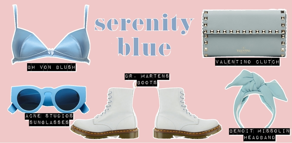Dresscode Pantone - Trend Pantone Colors Serenity Blue - Shop the look