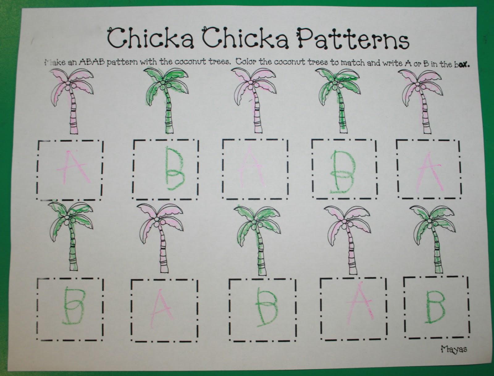 Mrs Mayas Kindergarten Chicka Chicka Boom Boom