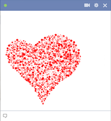 Facebook heart design