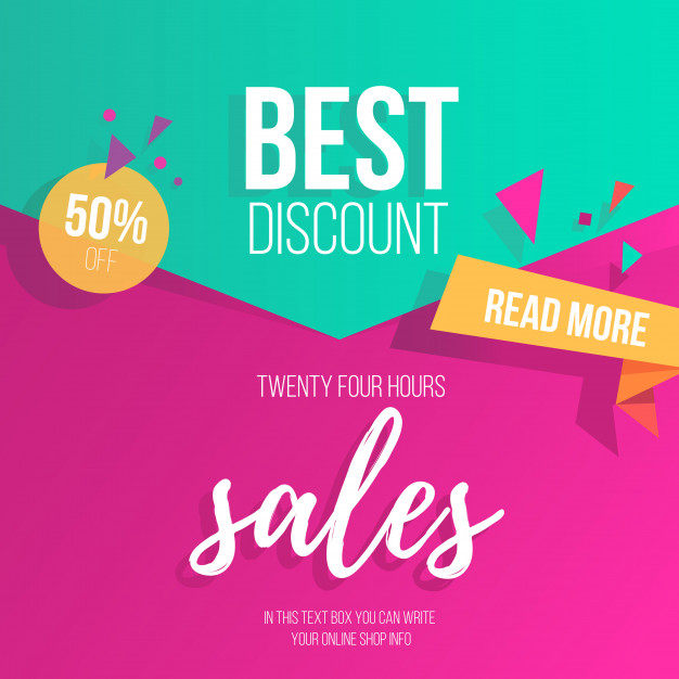 Colorful sale background Free Vector