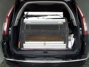 rampa para cães em SUV
