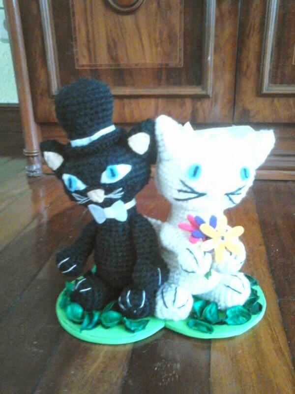 amigurumi boda gatos