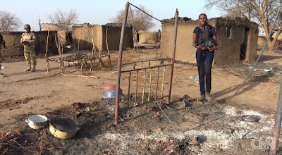 CNN reporter Nima Elbagir SEES THE DESTRUCTION LEFT BEHIND BY BOKO HARAM