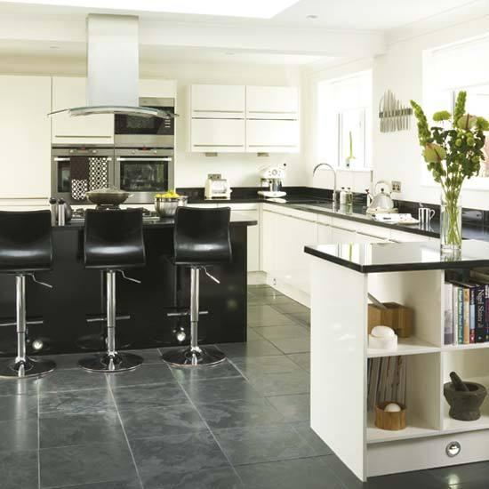 New home interior design modern kitchen for Pisos de ceramica para cocinas modernas