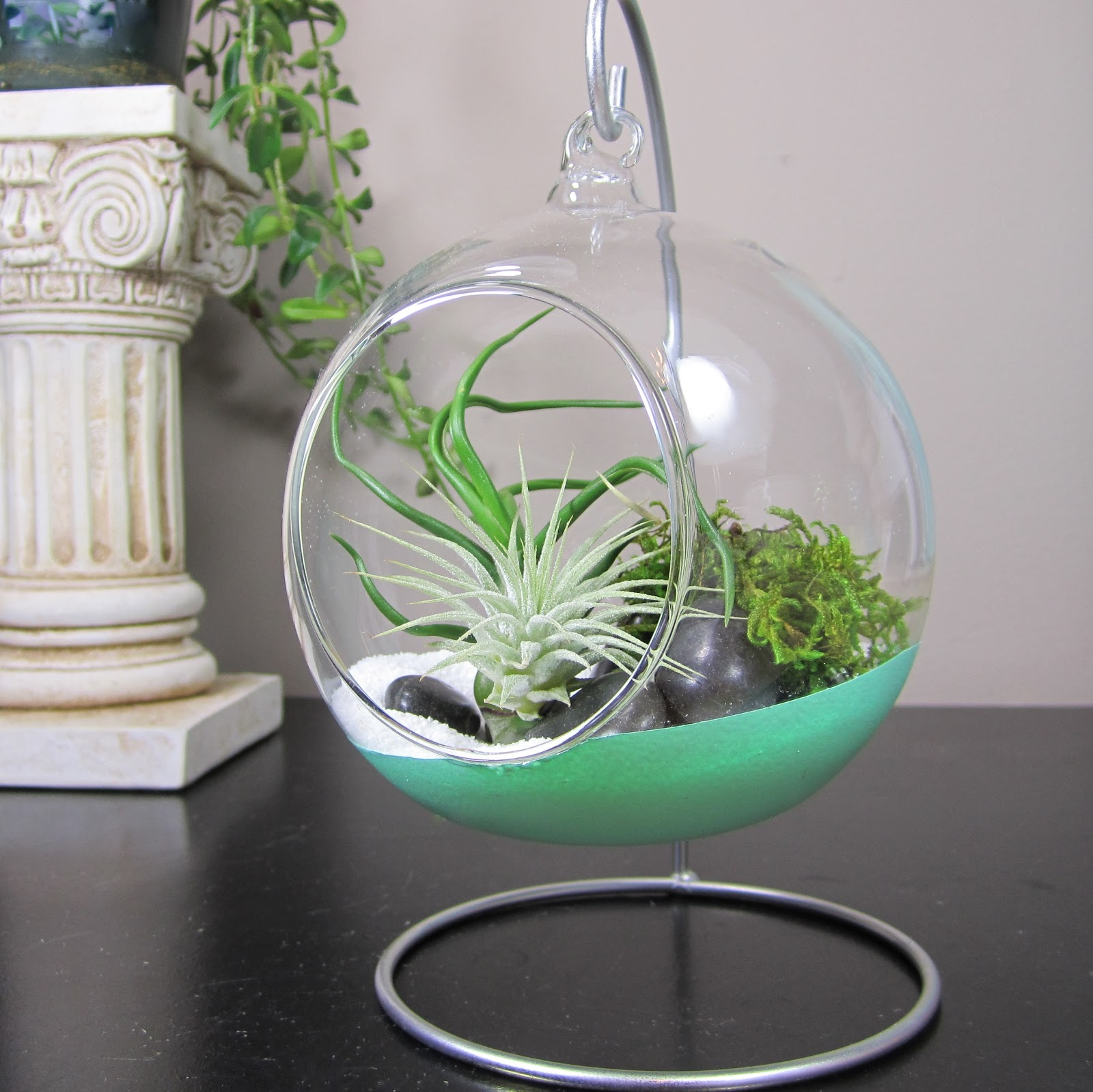 365 Designs Hanging Glass Terrariums Dipped In Paint