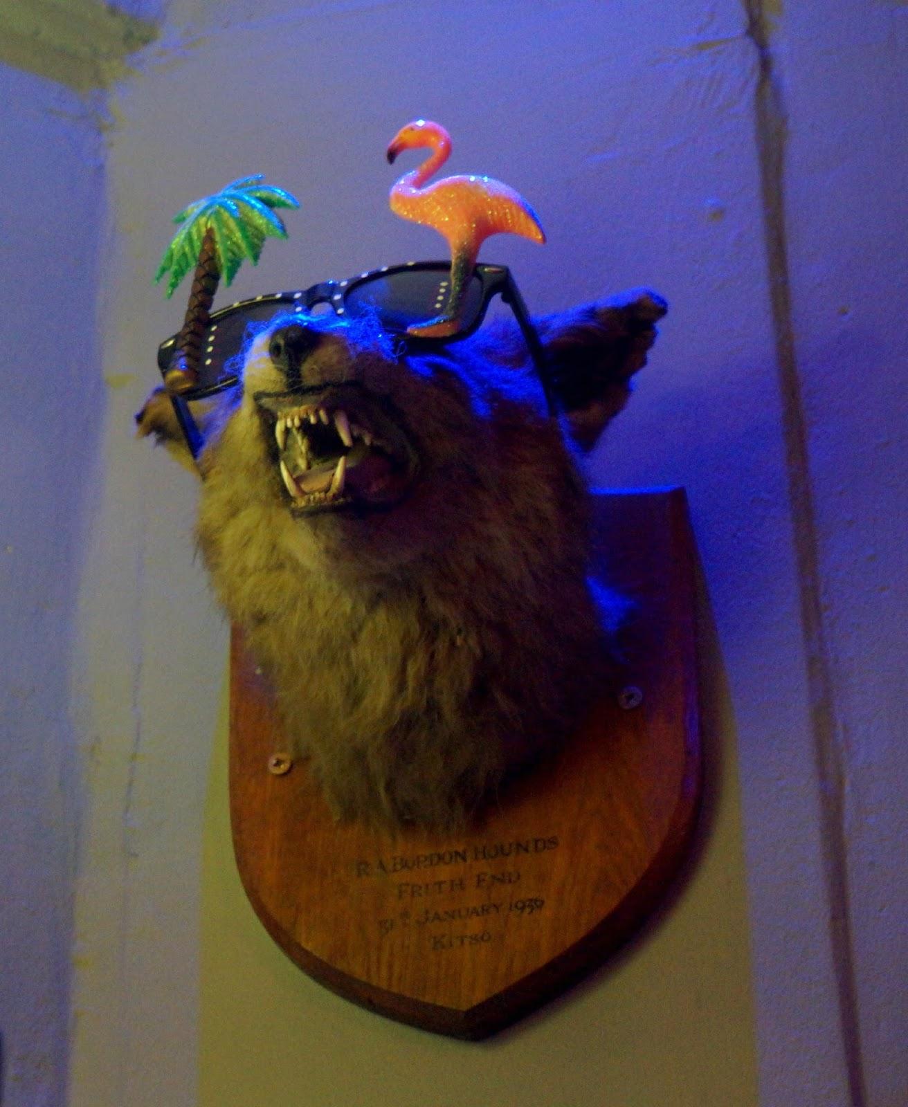 bear's head bust