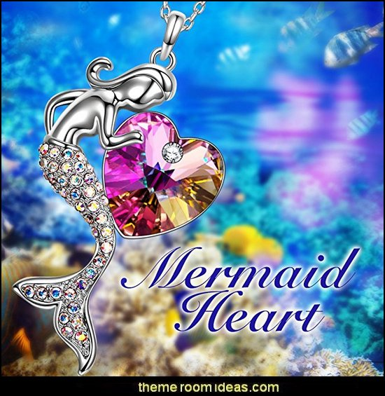 Mermaid Swarovski Crystal Pendant Necklace, Jewelry for Women Gifts for Women