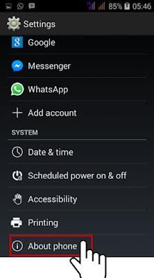cara mengetahui spesifikasi hp android tanpa aplikasi