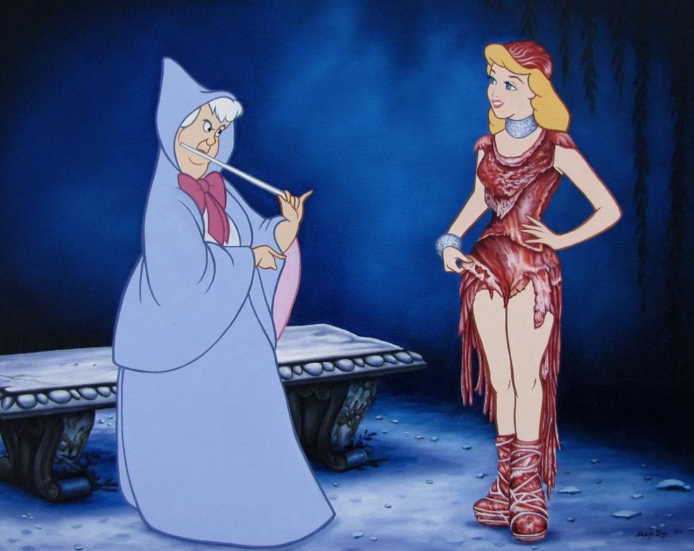 12-Magic-Meat-Dress-Jose-Rodolfo-Loaiza-Ontiveros-Walt-Disney-Cartoons-Updated-for-the-21st-Century-www-designstack-co