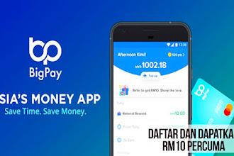 Daftar Aje Bigpay App Ni!  Dapat RM10 Percuma