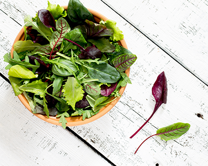 healthy salad leaves