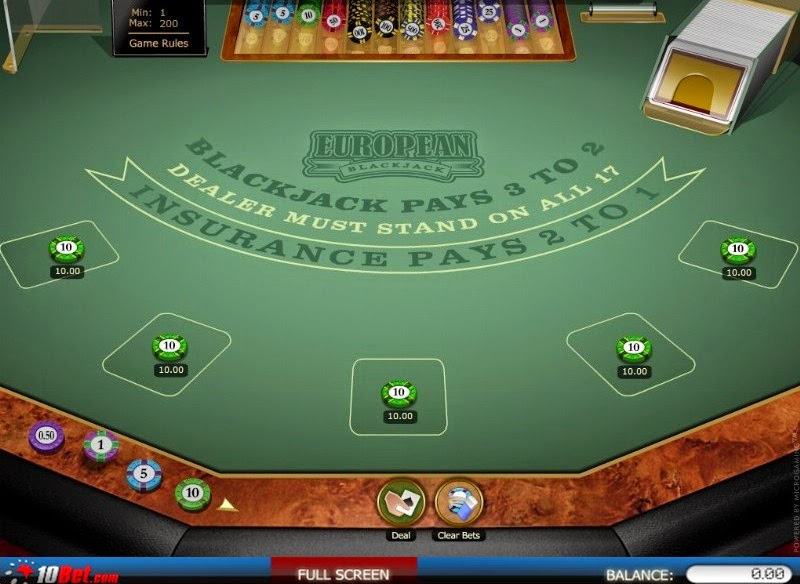 10Bet Casino Blackjack Screen