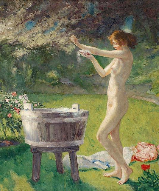 Charles Hermans: Bagno in giardino