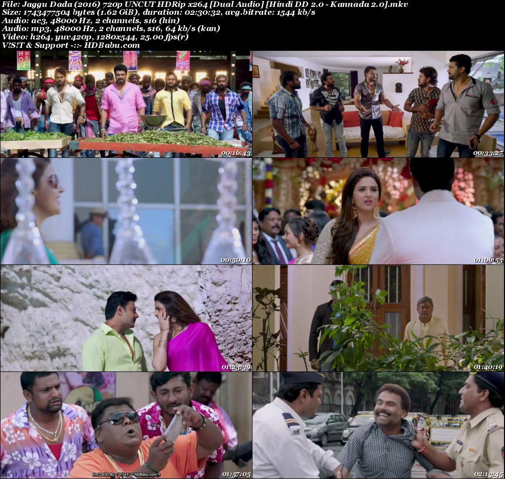 Jaggu Dada (2016) 720p UNCUT HDRip x264 [Dual Audio] [Hindi DD 2.0 - Kannada 2.0] Screenshot