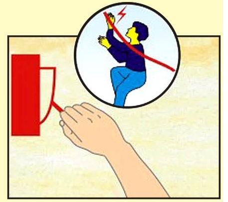 Ngắt cầu dao điện khi có cháy