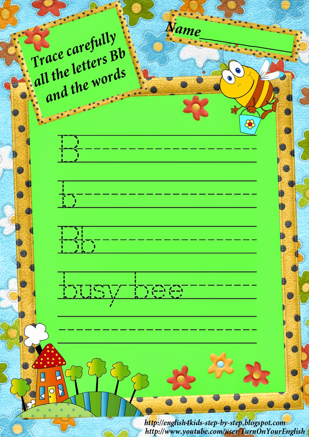 Letter B Song. Bee Song for Kids Learning English ABC