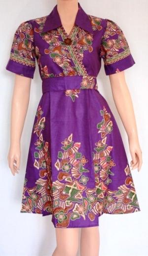 Model Baju Batik Lengan Pendek Modern Terbaru