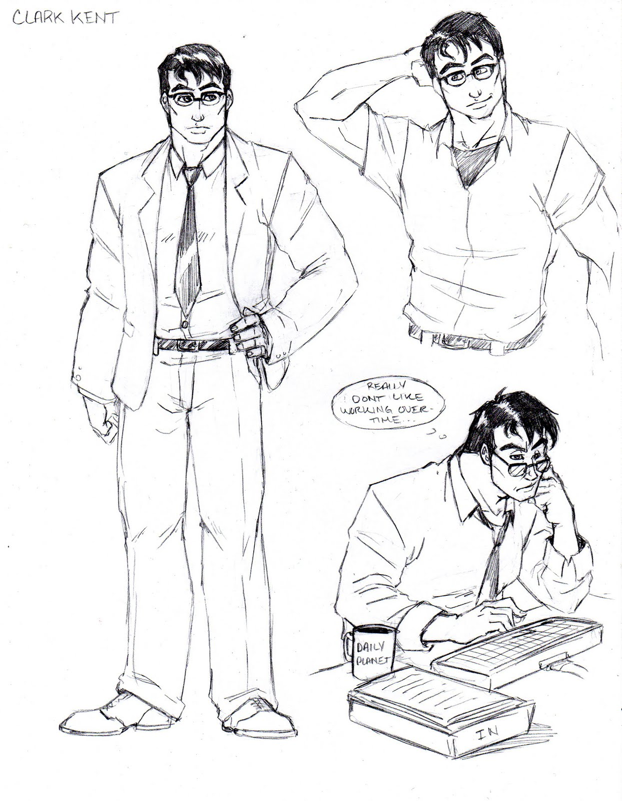 This is a picture of Magic Clark Kent Drawing