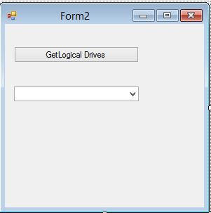 form design for How to access system Drives in C#