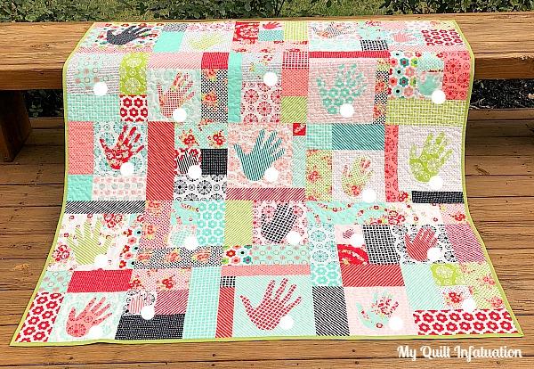 My quilt infatuation handmade handprints and ntt