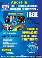 Apostila IBGE concurso 2016 atualizada, impressa gratis pdf digital.