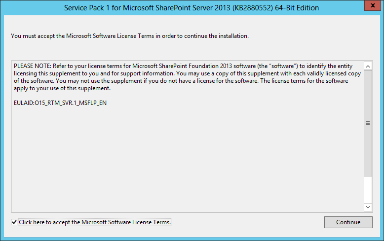 sharepoint 2013 service pack installation