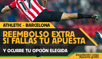 betfair reembolso 25 euros Super Copa España Athletic vs Barcelona 14 agosto