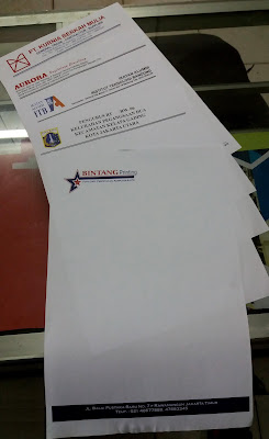 Cetak Kop Surat Express 1 Jam Jadi