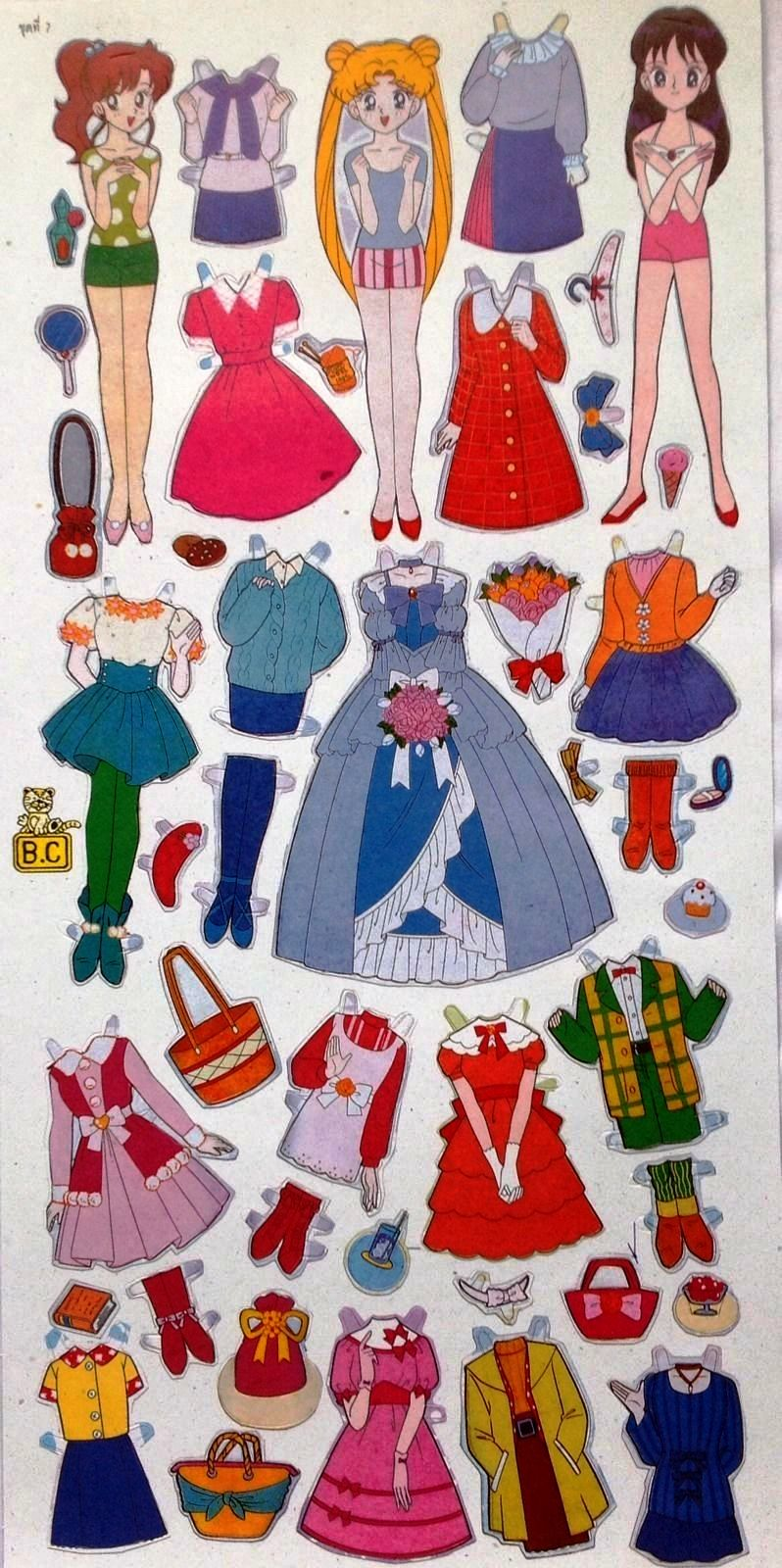 mbah bepe paper doll sailor moon