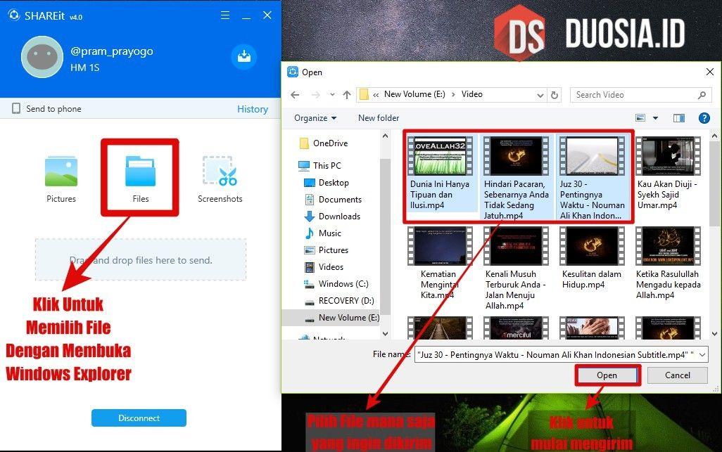 Mengirim File dari PC ke Android