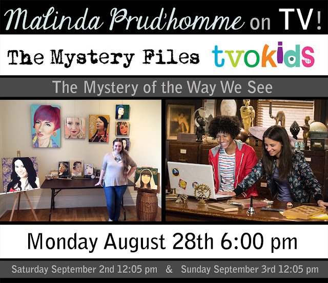 the mystery files, canada, canadian portrait artist, malinda prudhomme, toronto, toronto art, toronto artist, malinda on tv, artist on tv, portrait specialist, apartment 11 productions