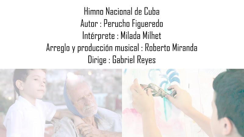 Milada Milhet - ¨Himno Nacional de Cuba¨ - Videoclip - Dirección: Gabriel Reyes. Portal del Vídeo Clip Cubano