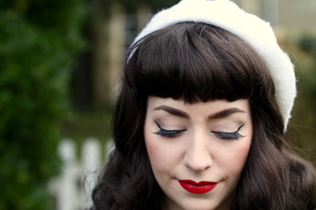 Becca by Annabelle's Wigs worn with beret