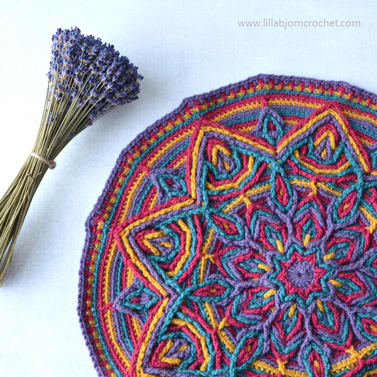 Illusion Mandala: new overlay crochet pattern | LillaBjörn's