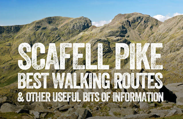 Scafell Pike walk best route map height how long Lake District 3 peaks summit