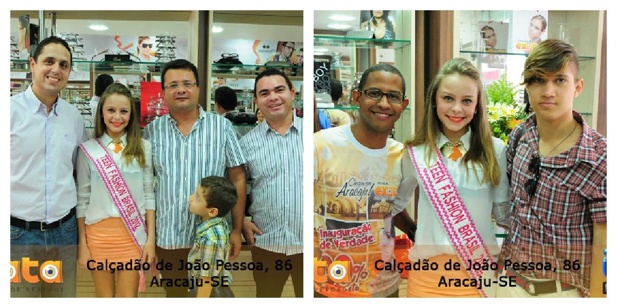 Presença da Miss Teen Fashion Brasil 2012 - Mayara Barreto, na inauguração  da Ótica Exata em Aracaju b044fe44e2
