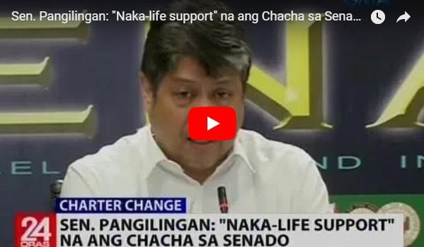 Watch: Sen. Pangilingan 'Naka-life support' na ang Chacha sa Senado