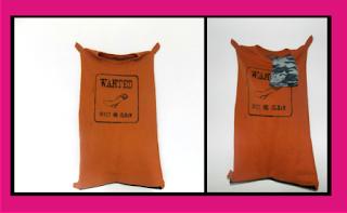 Como hacer una bolsa para la ropa sucia con una camiseta