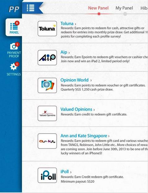 Mobile app survey customization on Panel Place
