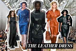 Leather dresses vogue