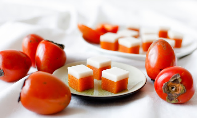 Persimmon and Cream Gummy Lollies