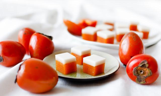 Persimmon and Cream Gummy Lollies
