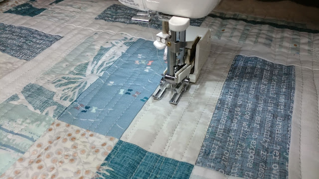 Baby quilt using Blithe fabrics by Art Gallery Fabrics