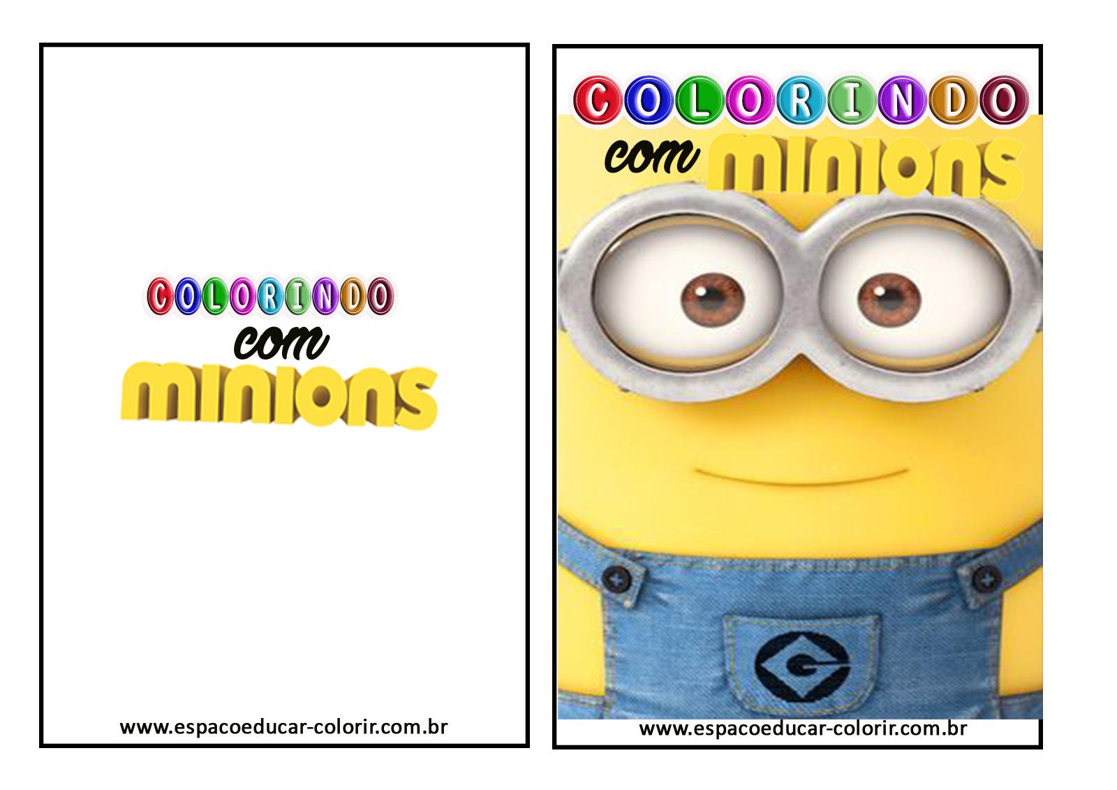 Livro De Colorir Dos Minions Grátis Para Imprimir! Revista